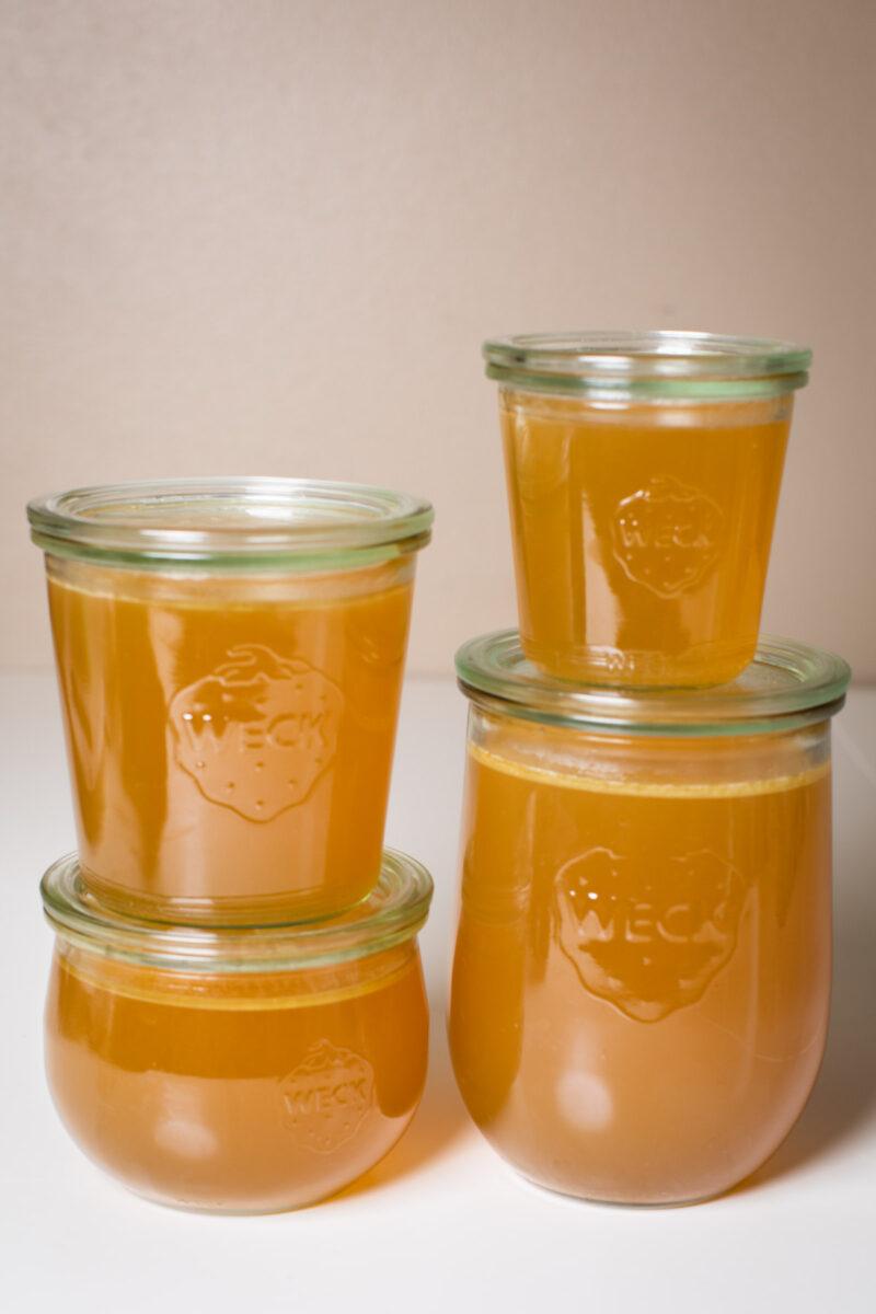 4 jars of turkey stock