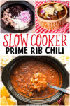 collage of prime rib images with text overlay for pinterest