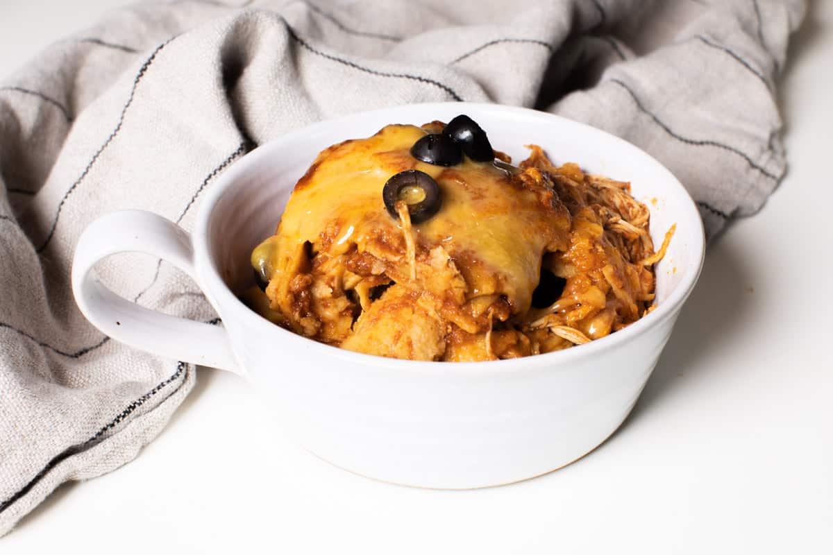bowl of enchilada casserole