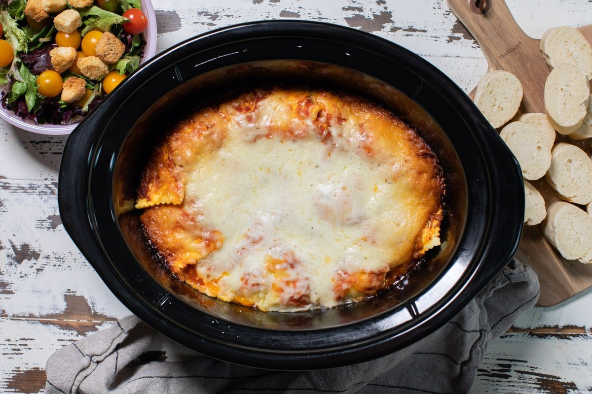 done cooking ravioli in slow cooker