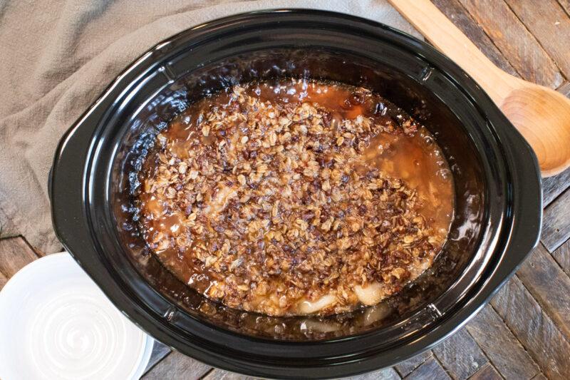 done cooking apple crisp in slow cooker