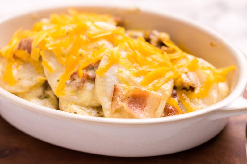 potatoes in white dish