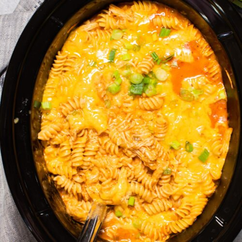 close up of chicken enchilada pasta
