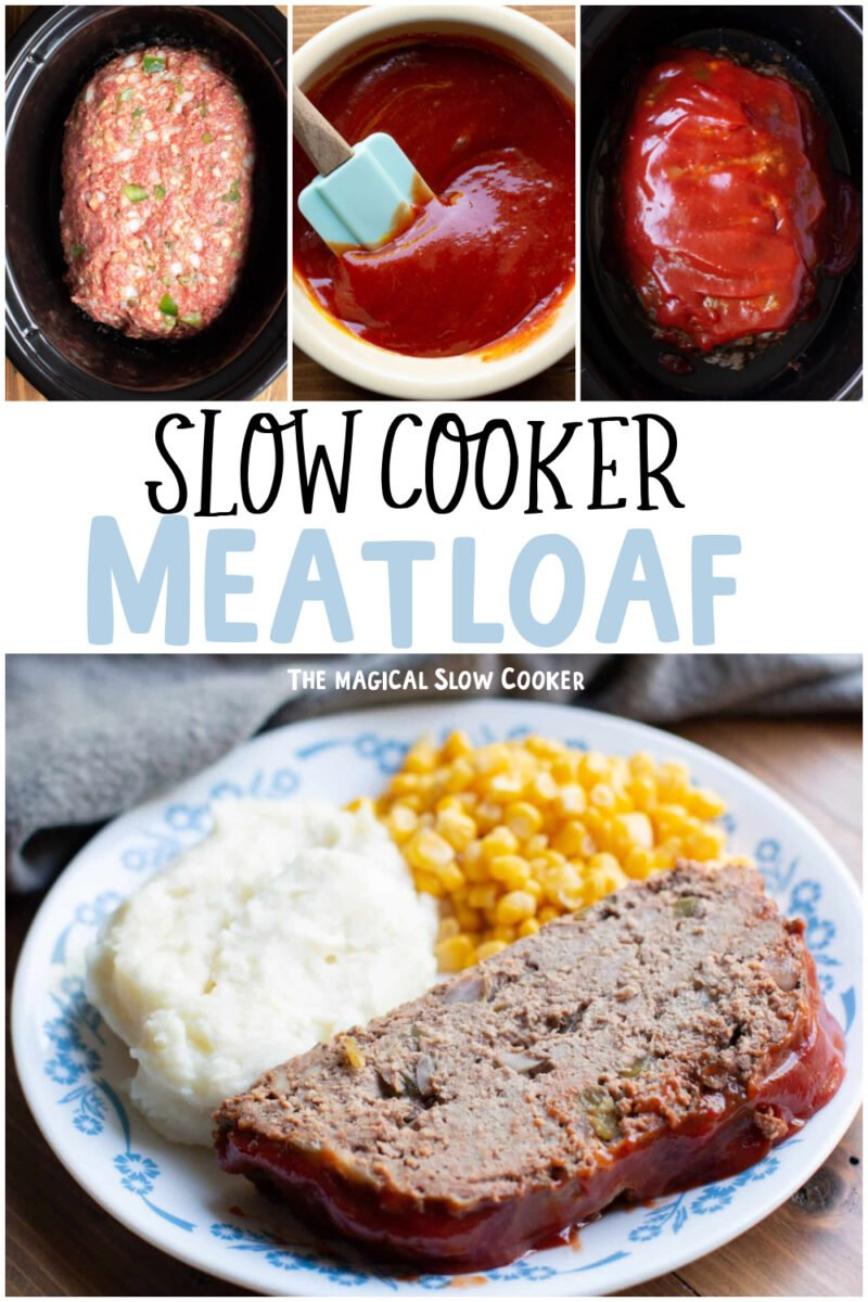 collage of meatloaf recipes with text overlay for pinterest