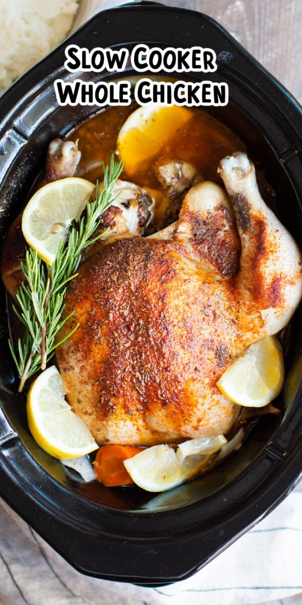 close up of whole chicken for pinterest