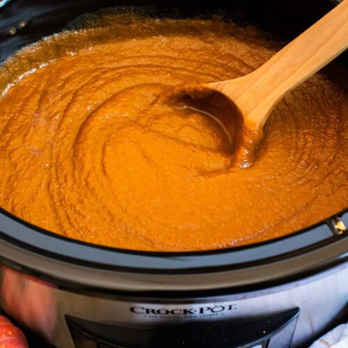 close up of cooked pumpkin butter